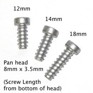 KUU Pan Head Alpine Binding Screws, 5.5 x 12, 14 & 18 mm (10 pack) - use PDZ#2 bits