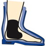 "Kwik Full Ankle Pad-Large-1/8""-singles"