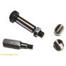 Threaded 5mm SS Insert Installation Screw and 3mm Hex Driver Bit