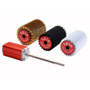 Tools4Boards SPIN 5pc. Brass + Horsehair + Nylon 115mm Roto Brush Kit